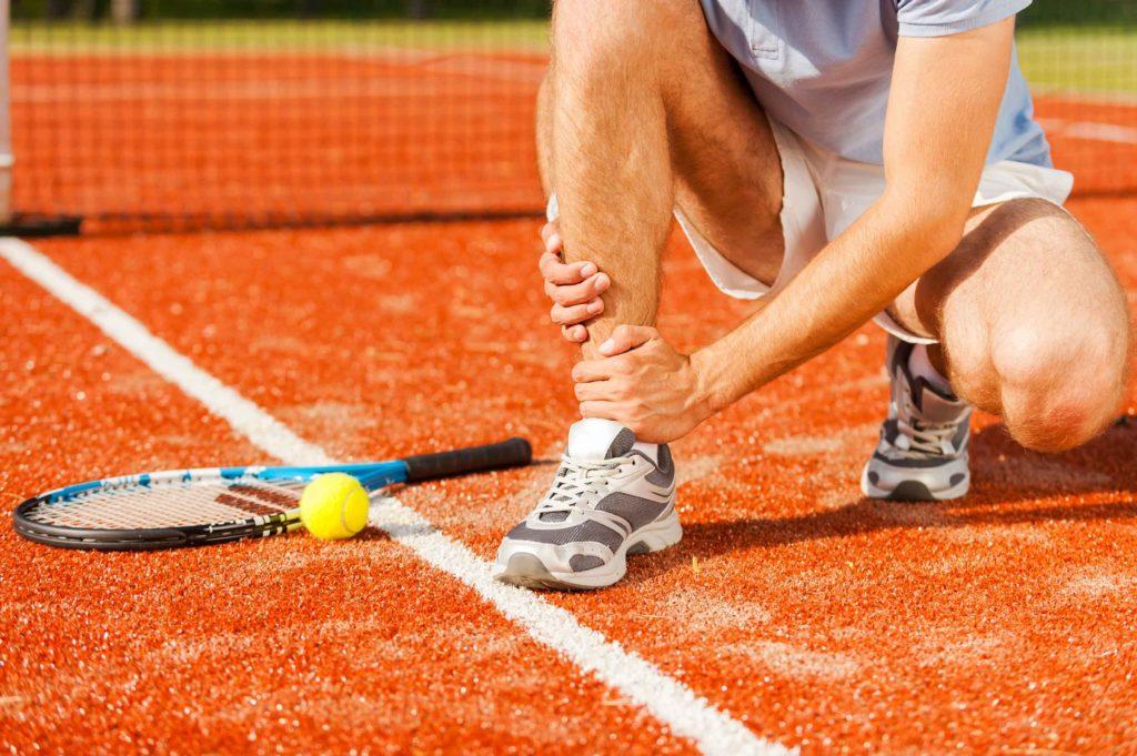 infortunio e dolore nel tennis